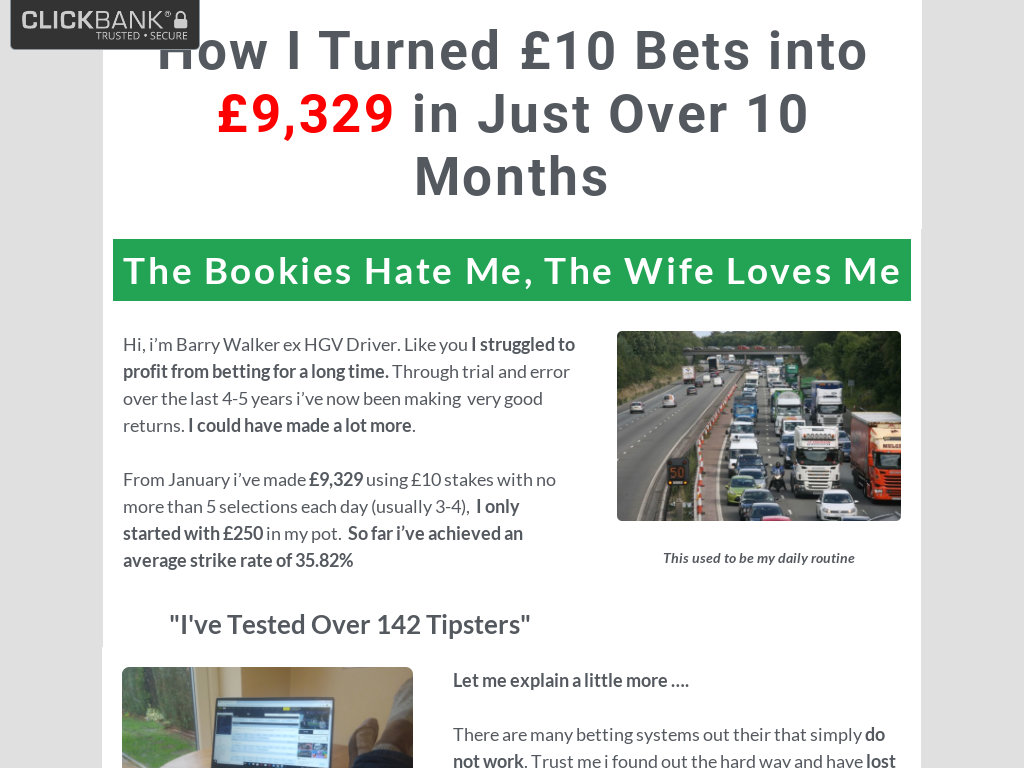 Barry's Betting Tips Reviews - Is Barry Walker Scam?